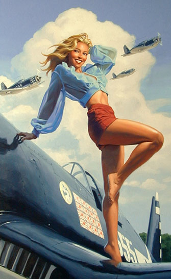 pinup ww2 navy airbrush art the look
